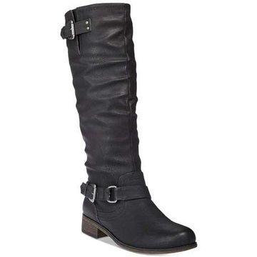 Xoxo Womens DipJun17 Leather Closed Toe Knee High Riding Boots