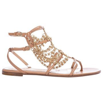 Gianvito Rossi Beige Leather Sandals