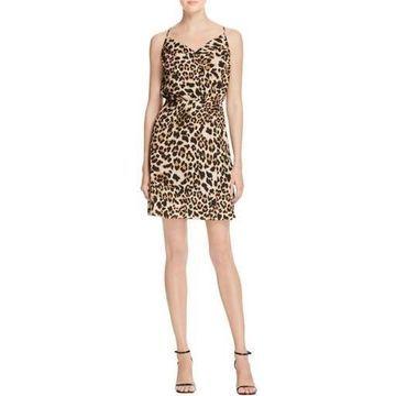 Amanda Uprichard Womens Leopard Printed Party Dress
