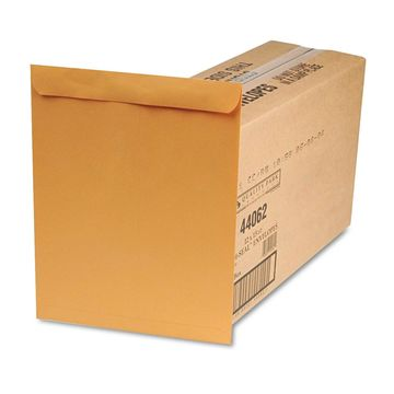 Quality Park Redi Seal Catalog Envelope 12 x 15 1/2 Brown Kraft 250/Box 44062