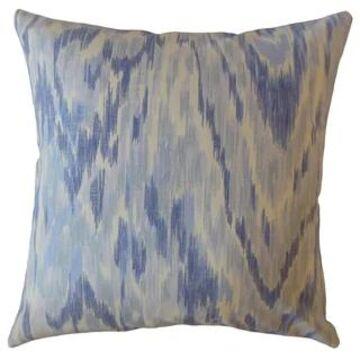 The Pillow Collection Wiebke Ikat Decorative Throw Pillow
