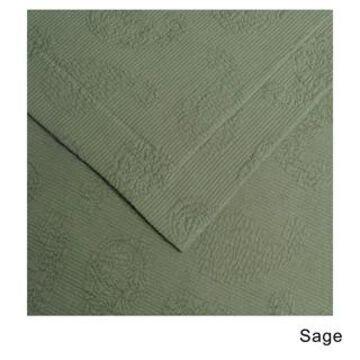 Superior Jacquard Matelasse Paisley Cotton Bedspread Set (Sage - Twin)