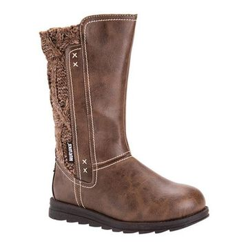 MUK LUKS Women's Stacy Boot Brown Polyurethane/Acrylic