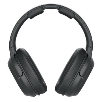 Closed-Back Over-Ear Headphones w/ Digital Surround Wireless & NeeGo RCA Plug Y-Adapter For TV - Black