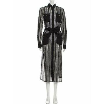 Silk Long Dress Black