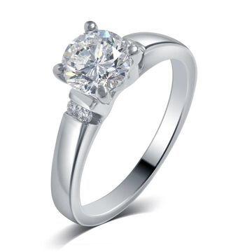 Divina 14k White Gold 3/5ct TDW Diamond Engagement Ring