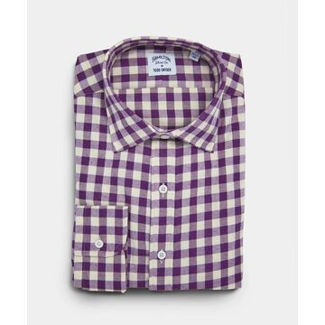 Made in the USA Hamilton + Todd Snyder Purple Gingham Shirt