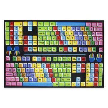Fun Rugs Keyboard 4-Foot x 6-Foot Area Rug