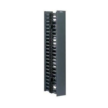 Panduit WMPVHC45E NetRunner Vertical Dual Sided Manager - Black