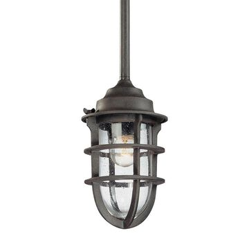 Troy Lighting Wilmington Nautical Rust Transitional Geometric Mini Pendant Light | F1860NR