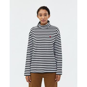 Long Sleeve Haldon Tee in Black Stripe