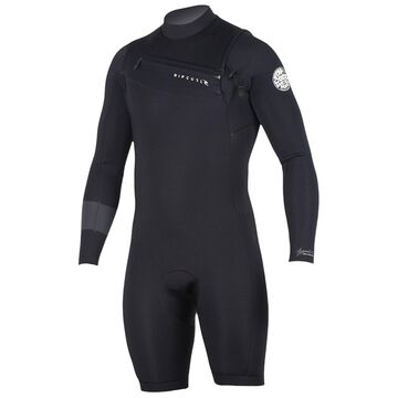 Rip Curl Men's 2u002F2mm Aggrolite Long Sleeve Chest Zip Spring Suit Wetsuit