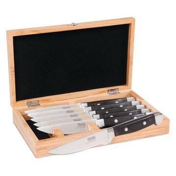 Viking Professional Pakkawood 6-Piece Steak Knife Set, Black