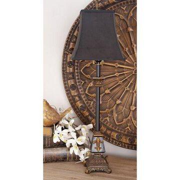 DecMode Black Polystone Tuscan Buffet Lamp 35