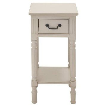 Benzara Fascinating Styled Wood Accent Table