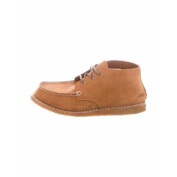 Nubuck Lace-Up Boots Brown