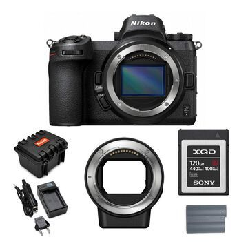 Nikon Z7 Mirrorless Camera Body with FTZ Mount Adapter and 120GB XQD Card Bundle