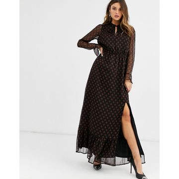 Y.A.S printed maxi dress with side split-Multi