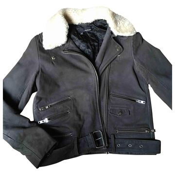 The Kooples Grey Leather Jackets