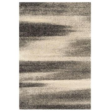 United Weavers Serenity Collection Geometric Rug, Grey, 5X7 Ft