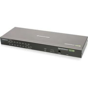 16PORT PS/2 USB KVM SWITCH CONTROL UP TO 256 COMPUTERS TAA