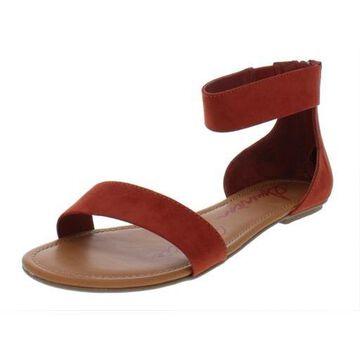 American Rag Womens Keley Microsuede Ankle Cuff Flat Sandals