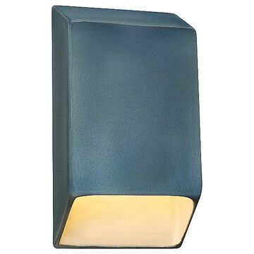 Justice Design Group Ambiance Tapered Rectangle Closed Top LED Wall Sconce - Color: Brown - Size: Large - CER-5870-STOA