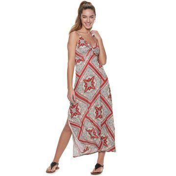 Juniors' American Rag Twist Front Maxi Dress
