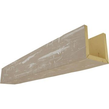 Ekena Millwork Hand Hewn 10-in x 12-in x 96-in White Washed Prefinished Polyurethane Decorative Beam in Brown | BMHH3C0120X100X096WH
