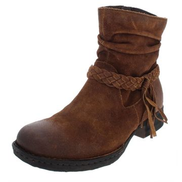 Born Womens Abernath Suede Padded Insole Ankle Boots
