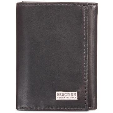 Kenneth Cole Reaction Men's Nappa Leather Extra-Capacity Tri-Fold Wallet