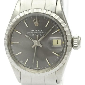 Vintage Rolex Lady Oyster Perpetual 26mm Grey Steel Watches