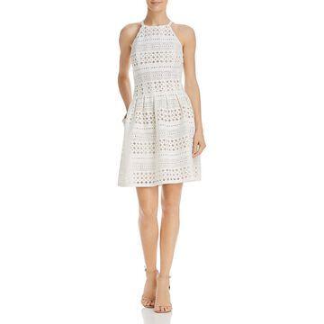 Eliza J Womens Pleated Halter Party Dress