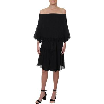 See by Chloe Womens Casual Dress Lace-Trim Shift - S