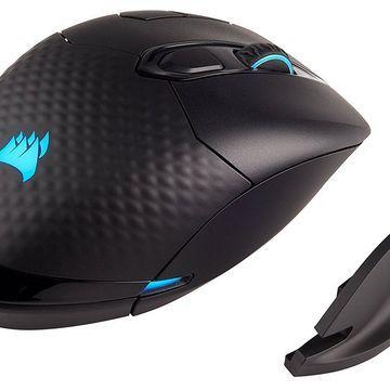 CORSAIR DARK CORE RGB Performance Wired / Wireless Gaming Mouse Black Backlit RGB LED 16000 dpi
