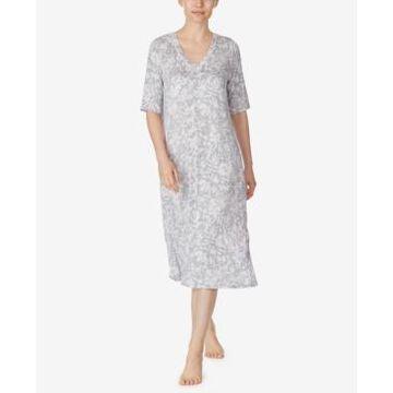 Ellen Tracy Printed Tunic Nightgown