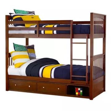 Hillsdale Furniture Pulse Twin Over Twin Bunk Bed With Storage In Cherry