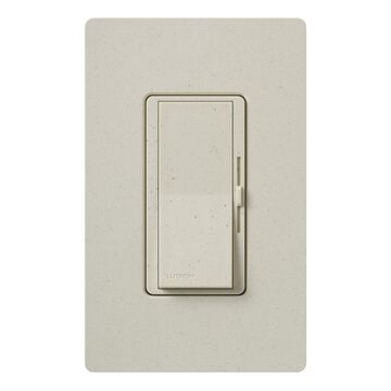 Lutron Diva Single-Pole/3-Way Limestone Rocker Light Dimmer