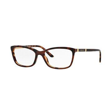 Versace Women's VE3186 5077 54 Cateye Metal Plastic Brown Clear Eyeglasses
