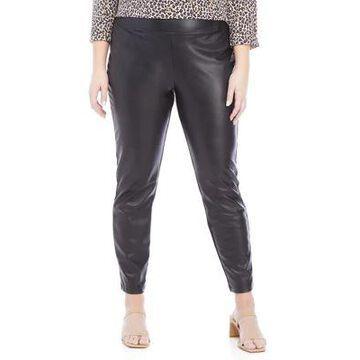 Dex Women's Plus Size Faux Leather Leggings - -