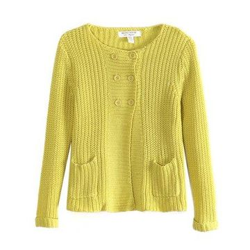 Richie House Girls' Double Row Buttons Cardigan Sweater RH0773-A-3/4