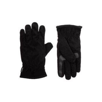 Isotoner Men's MenS Lined Recycled Microsuede 3 Draw Gloves - -