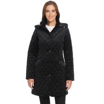 Women's Ellen Tracy Velvet Quilted Walker Jacket