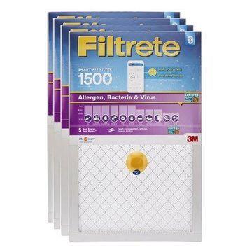 Filtrete Smart 14 x 24 x 1 inch Allergen, Bacteria & Virus HVAC Air and Furnace Filter, 1500 MPR, 4 Filters