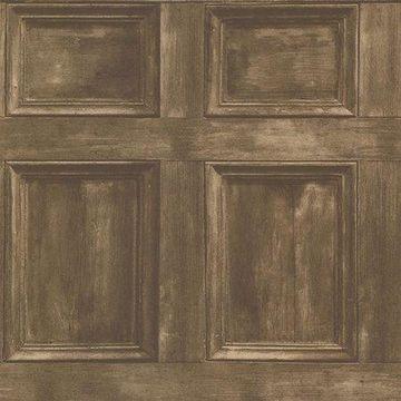Beacon House Club Room Wheat Wood Panels Wallpaper