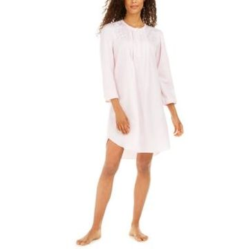 Miss Elaine Women's Brushed Back Satin Nightgown