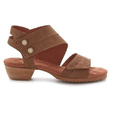 Walking Cradles Womens Calista Leather Open Toe Casual