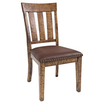 Jofran Cannon Valley Upholstered Brown Dining Chair - Set of 2