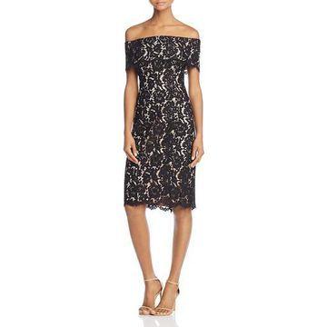 Eliza J Womens Lace Off-The-Shoulder Cocktail Dress