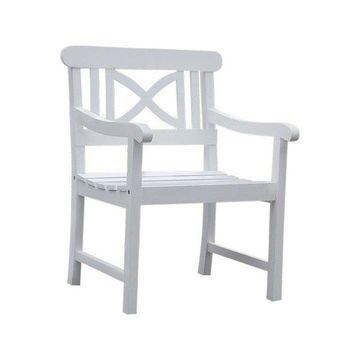 Vifah Bradley Outdoor Wood Armchair